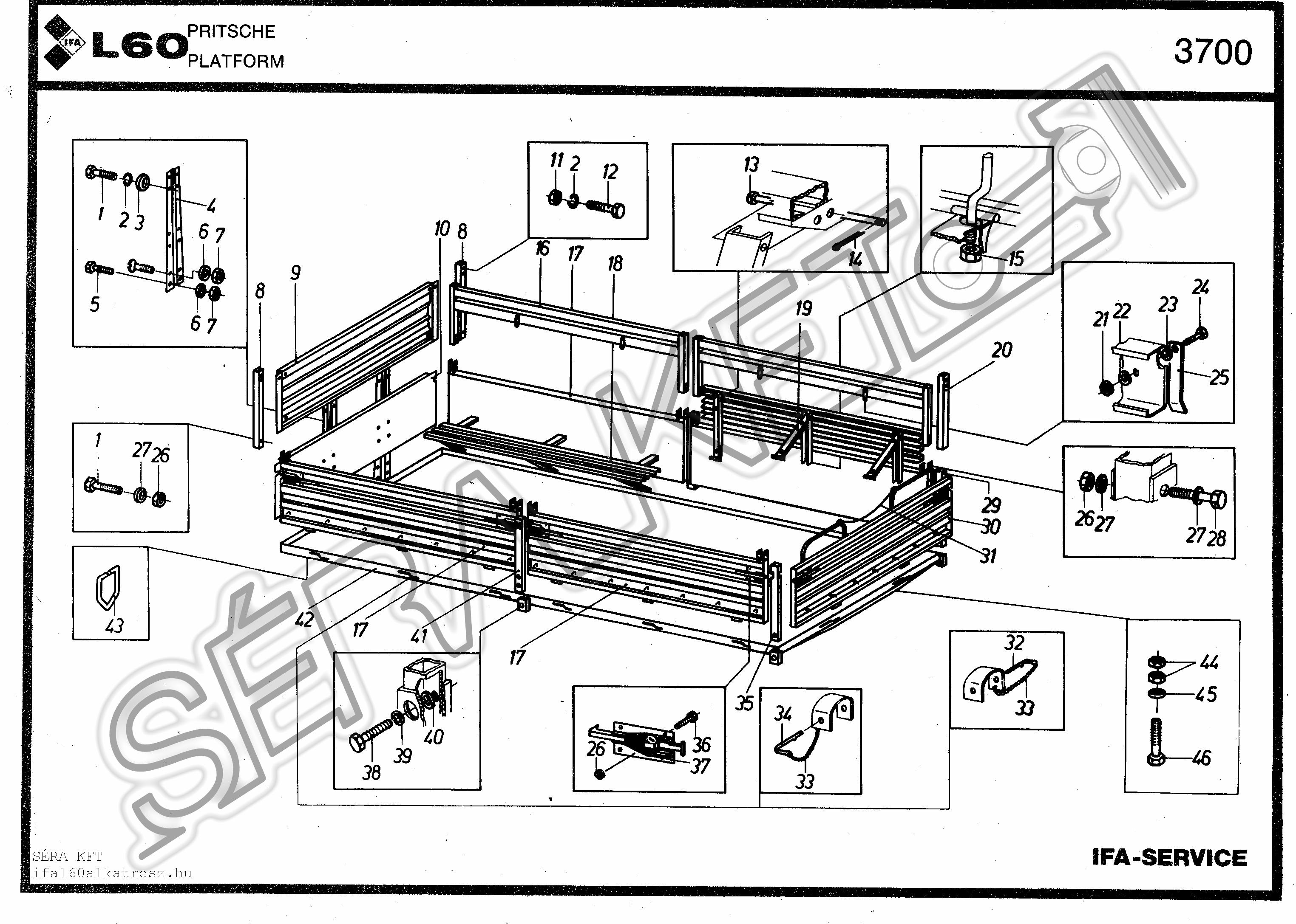 Plató - 4x4-es fix