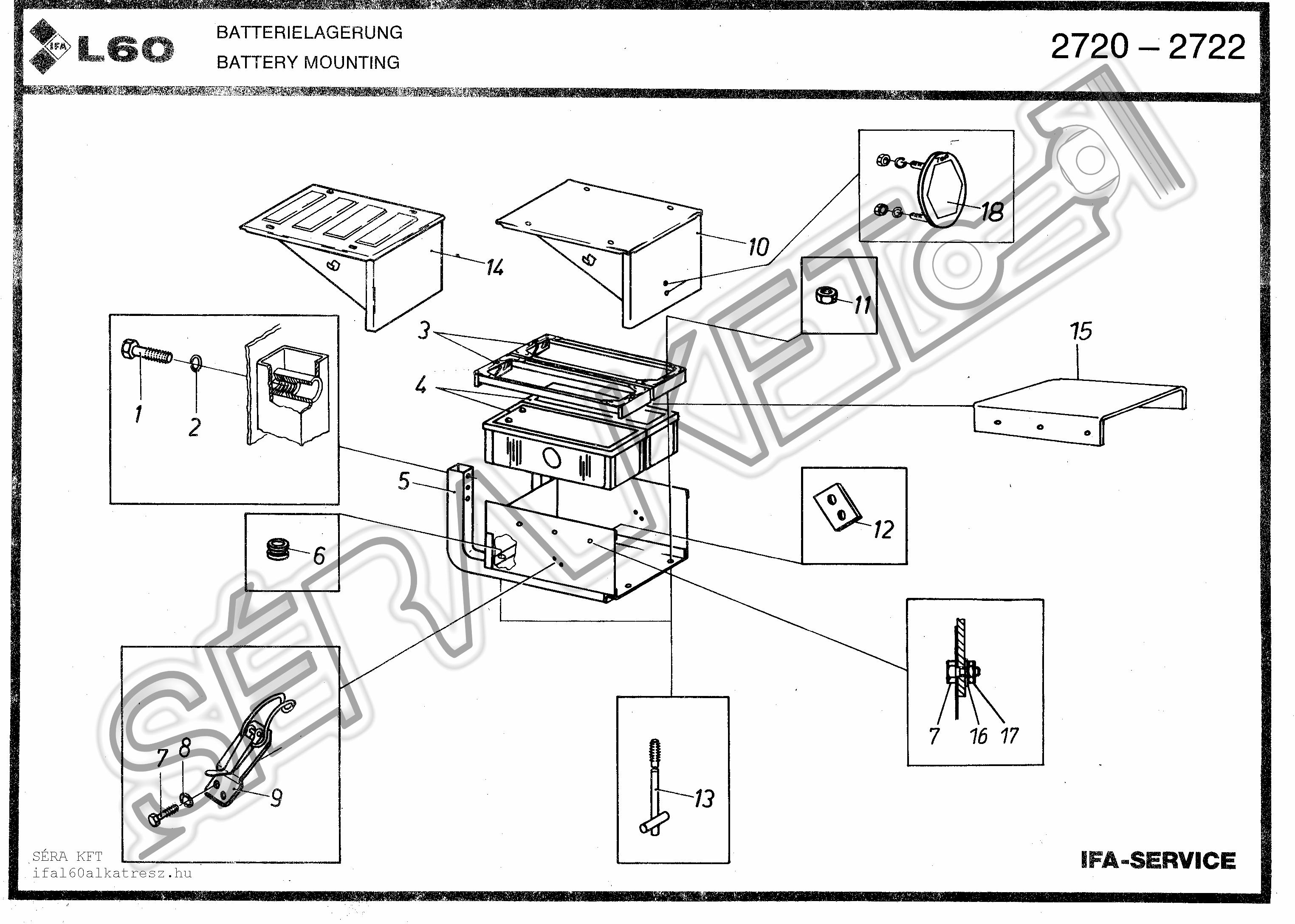 Akkumulátor tartó