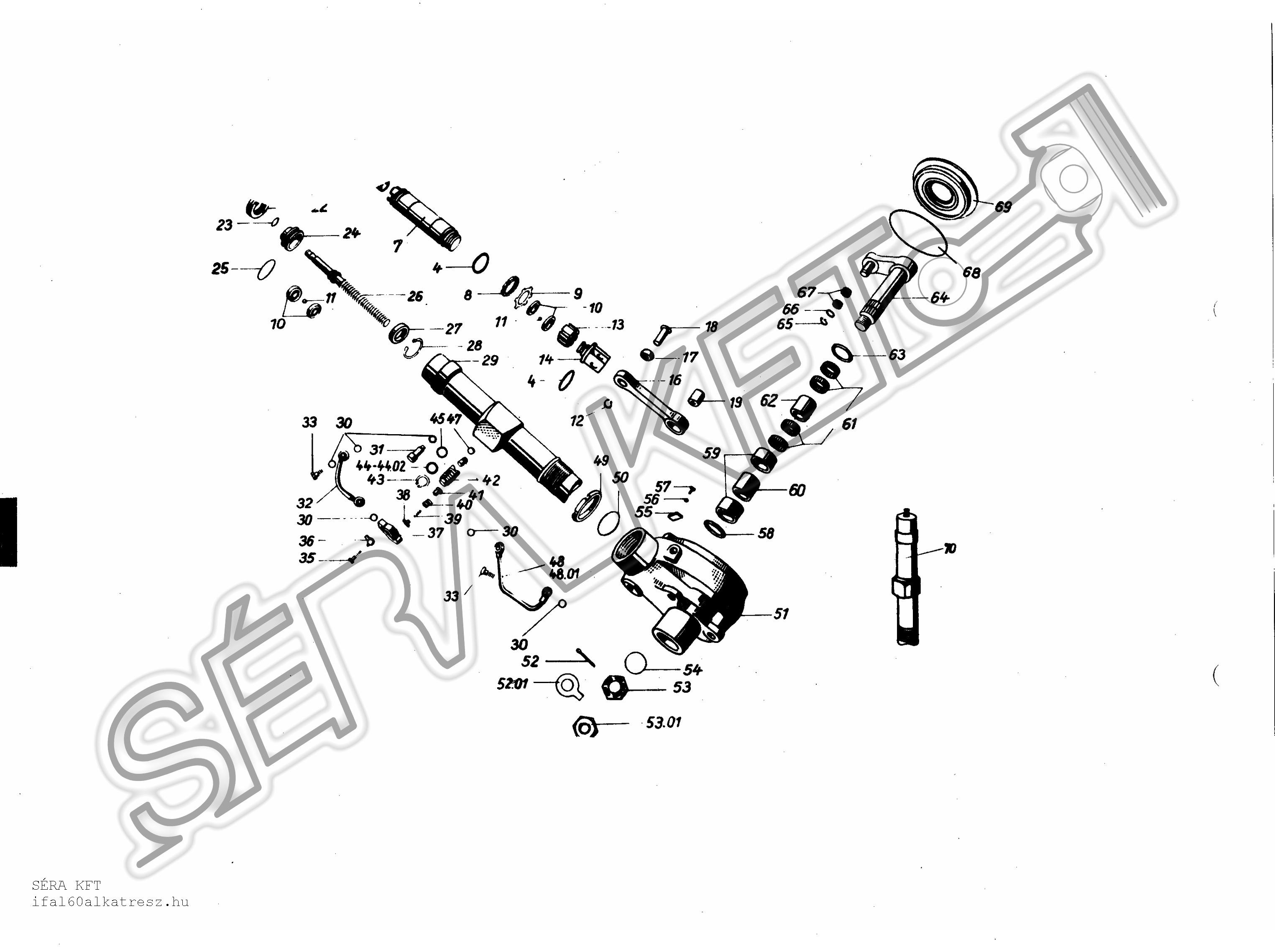 Kormány hidraulika szivattyú - 521 és 523 típus