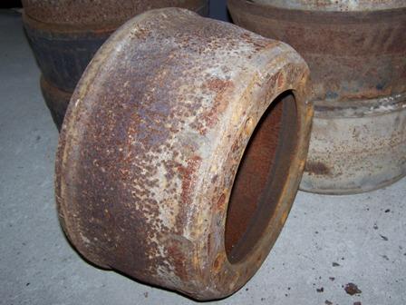 Fékdob hátsó tengelyre, bontott, 400-402, IFA L60