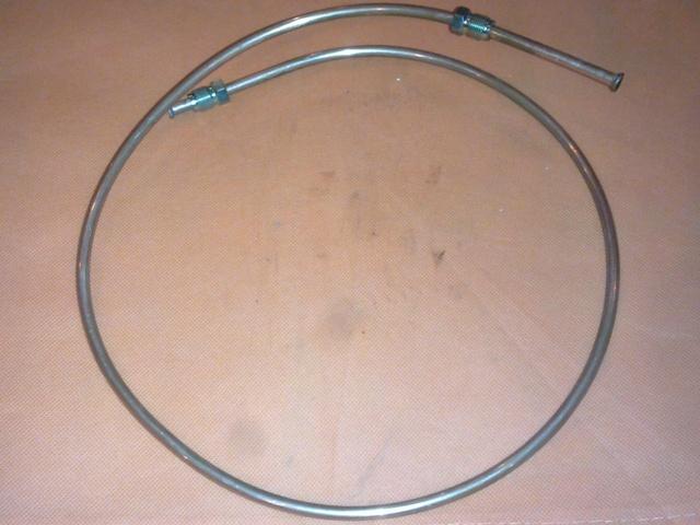 Fékcső réz, 1000mm, 2xM12x1, hátsó, jobb, IFA W50
