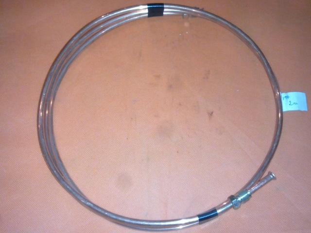 Fékcső réz, 2165mm, 2xM12x1