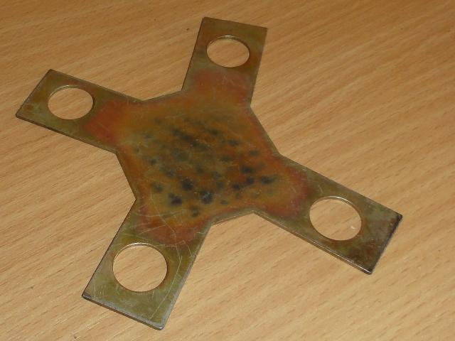 Függőcsapszeghez alsó biztosítólemez, 4x4, IFA W50