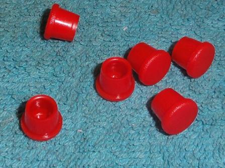 Légtelenítőcsavarhoz porvédősapka, piros