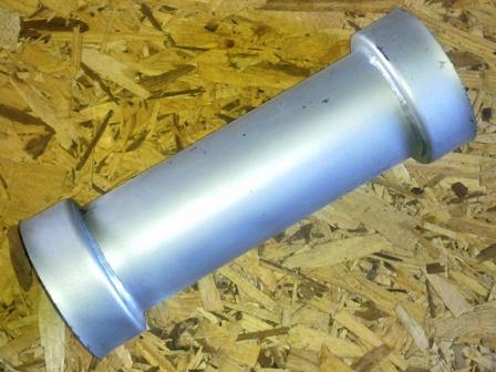 Kipufogóhoz kehelycső, ezüst, IFA L60
