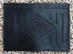Sárvédő gumi hátsó, 515x385mm, feliratos, puha*  - IFA W50-L60