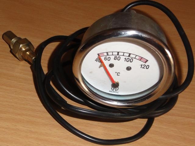 Vízhőmérő óra mechanikus, hőszálas, fehér (7m)